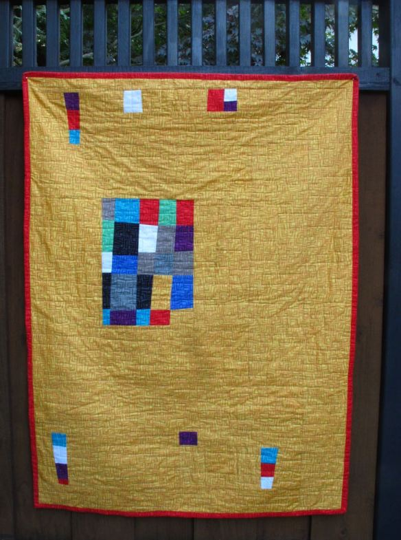 Back of Improv quilt by Carol Van Zandt