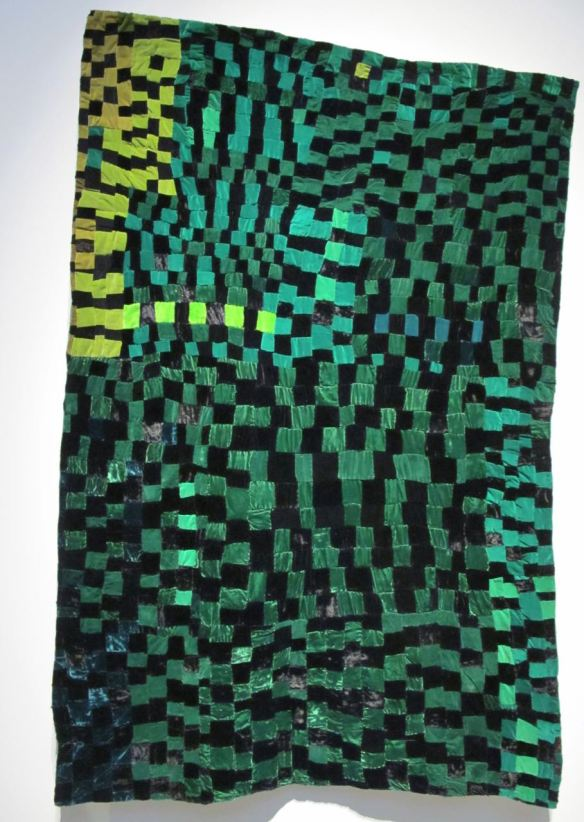 Checker Board Green and Black. Rosie Lee Tompkins, piecer.Irene Bankhead, quilter. Collection of Eli Leon