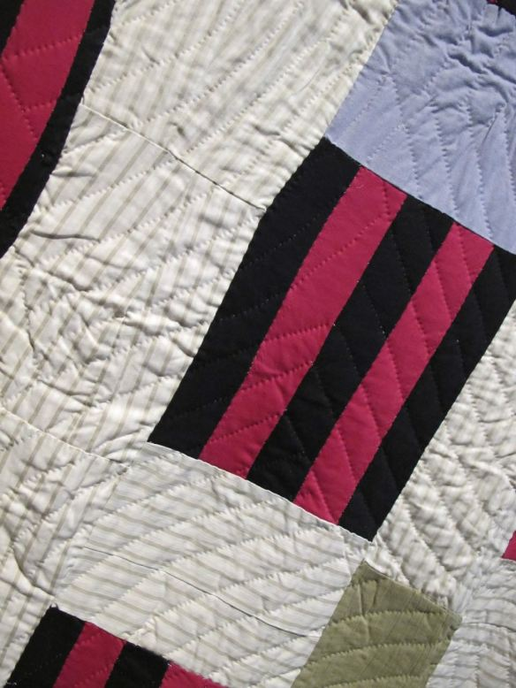 Detail of Double Strip. Mattie Pickett, piecer, Willia Ette Graham and Irene Bankhead, quilters. Collection of Eli Leon