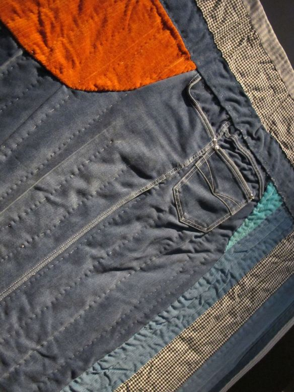 Detail of Swing Dinger. Pieced by Arbie Williams, quilted by Willia Ette Graham. Collection of Eli Leon