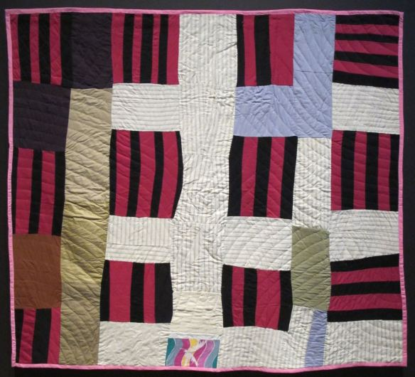 Double Strip. Mattie Pickett, piecer, Willia Ette Graham and Irene Bankhead, quilters. Collection of Eli Leon