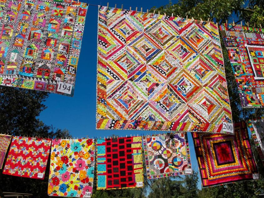 Freddy Moran, Quilting in the Garden at Alden Lane Nursery