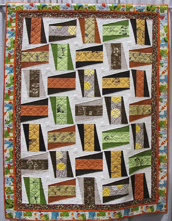 Cocktails and Coffee by Joy Shilling, quilted by Stitches of Joy Quilting