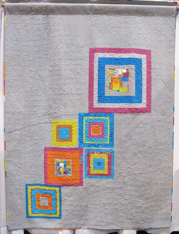 Hardly Strictly Stella by Cathy Miranker, quilted by Claudia Shearer