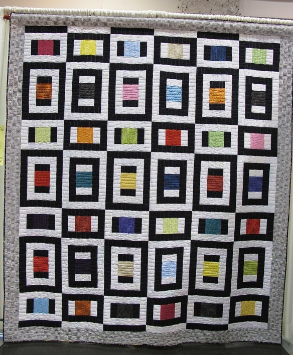 Remembering Mondrian by Susan Cobb, quilted by Betty Anne Guadalupe