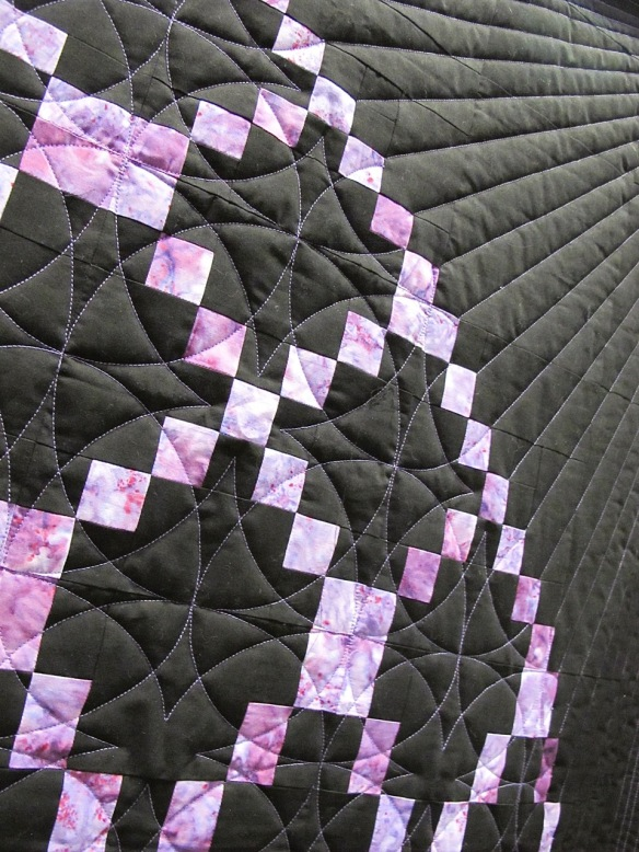 Spiral Galaxy by Jean Hughes, quilted by Margrit Schwanck