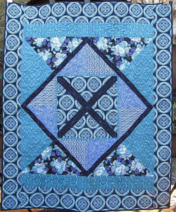 Bel Air Quilt for Lauren by Carol Van Zandt, quilted by Alethea Ballard @maverickquilts