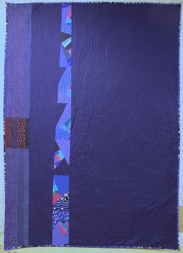 back of For Alejandro by Carol Van Zandt, quilted by Terri Carpenter of Hello Stitc