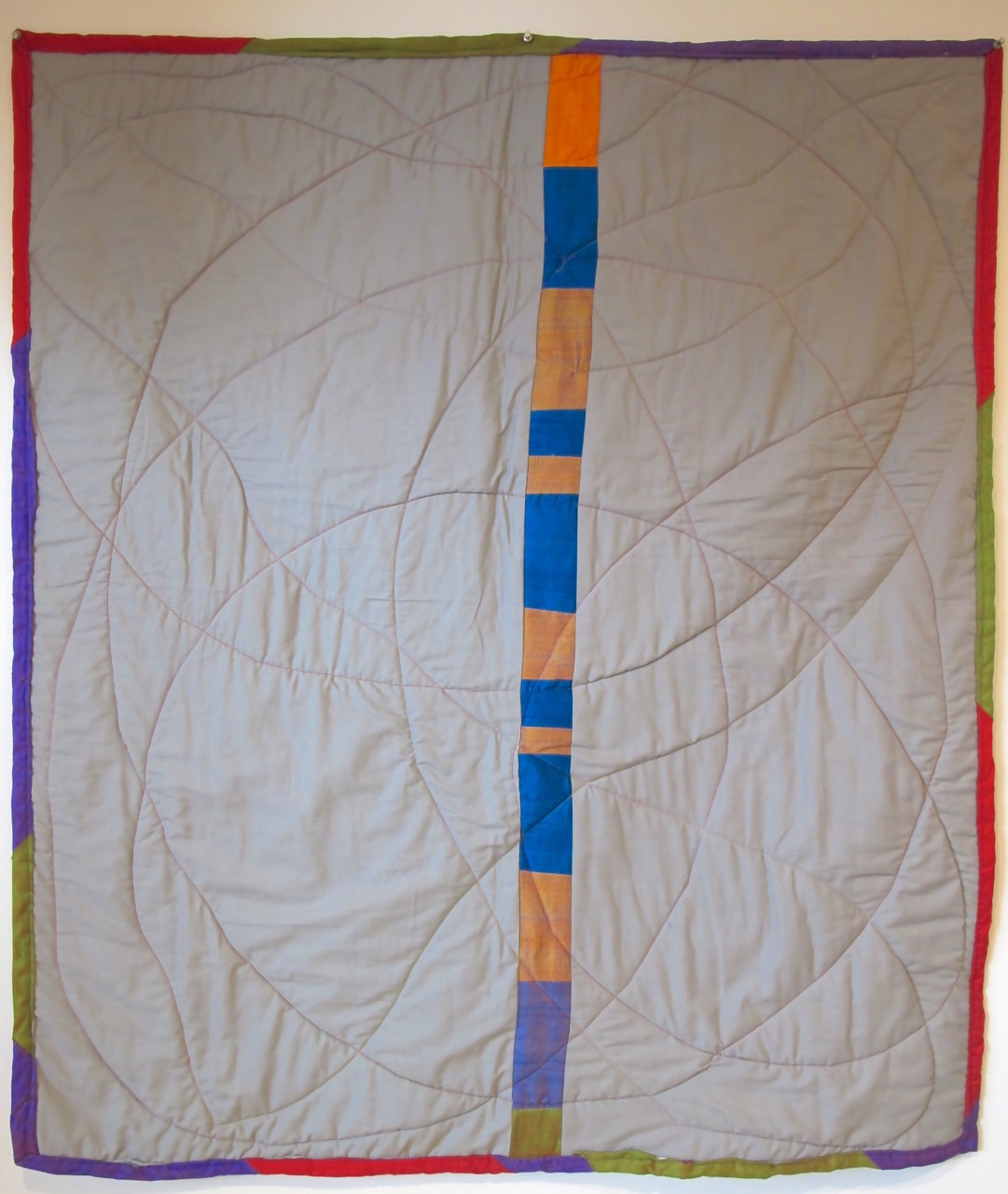 back of The Silk Quilt by Carol Van Zandt