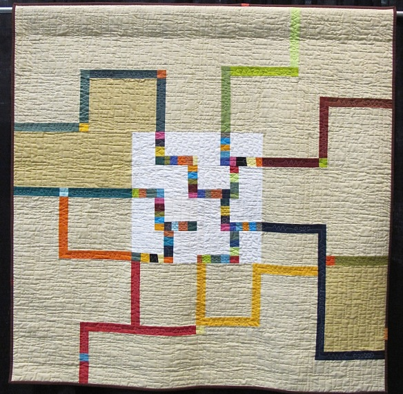 Circuit Board by Pamela Rocco, quilted by Louise Goodenough