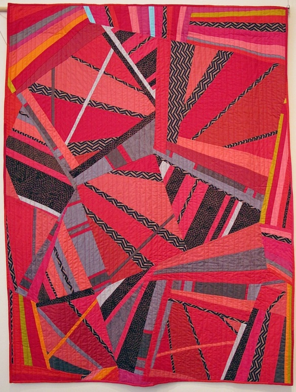 Convergence by Carol Van Zandt, quilted by Terri Carpenter-thequiltedfox.com