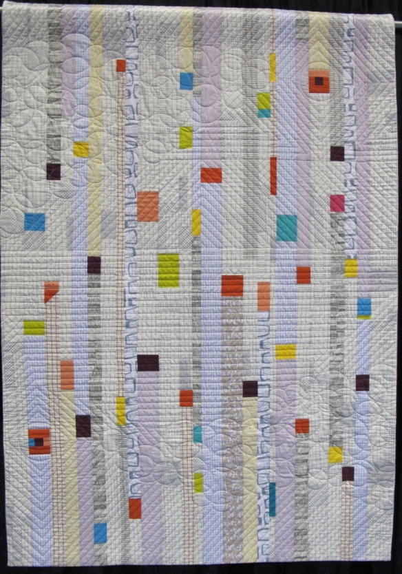 Homage to String Quilt by Anna Chan, quilted by Diane Torres