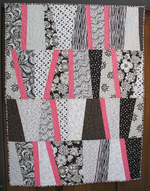 Baby Quilt for Penelope Clara by Carol Van Zandt, quilted by Terri Carpenter of thequiltedfox.com