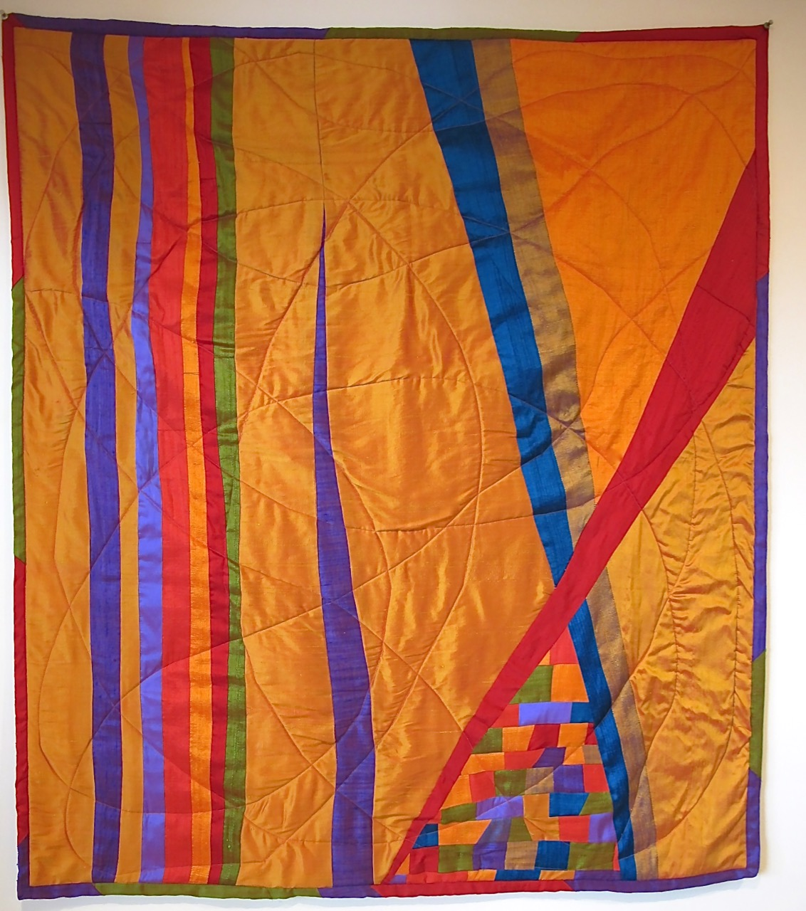 The Silk Quilt by Carol Van Zandt