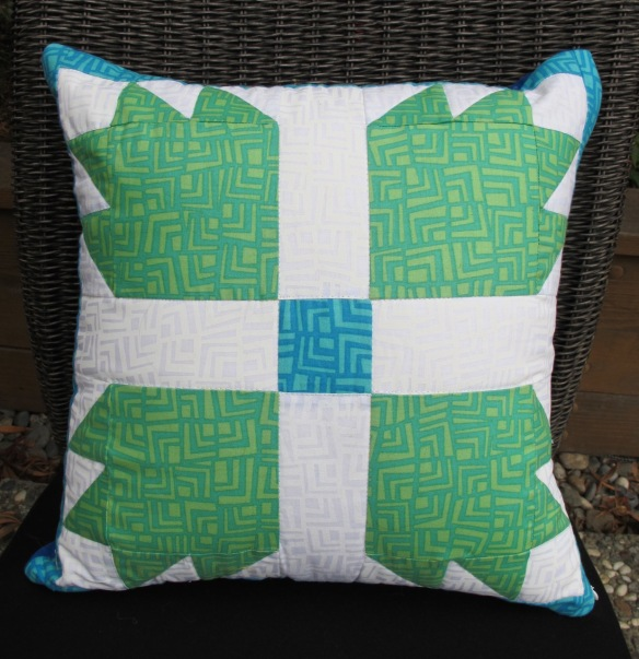 Bear Paw Block Pillow by Anna Carloni