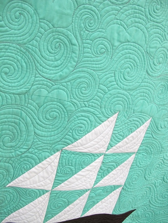 #ImOnABoat by Allison Chambers, quilted by Jessica Toye