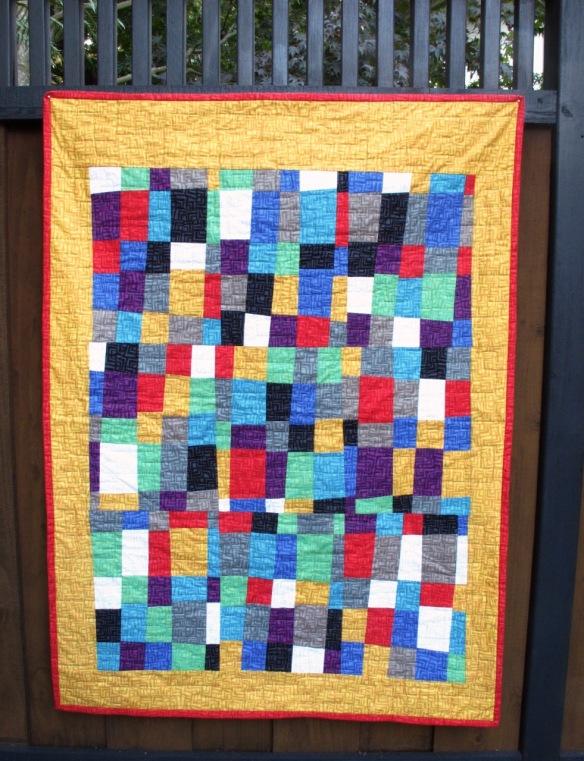 Improv quilt by Carol Van Zandt