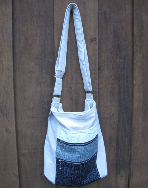 Noodlehead Gingham Tote from Handmade Style, made by Fat Chick Quilts