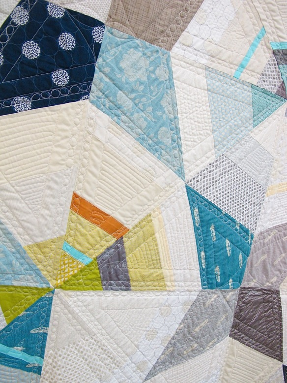 Octagon Shimmer by Jennifer Sampou. quilted by Jocelyn Marzan