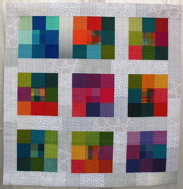 Solid + Plain Modules by Christine Barnes, quilted by Sandra Bruce