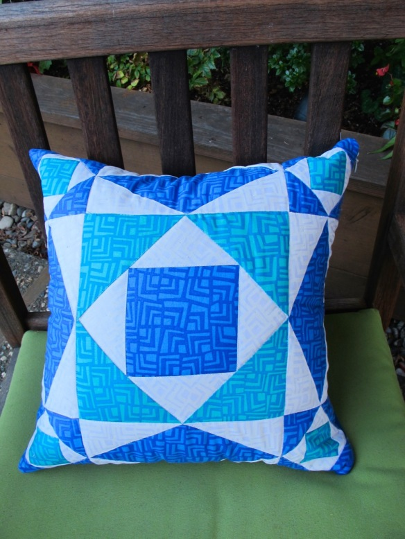 Storm at Sea Block pillow by Anna Carloni