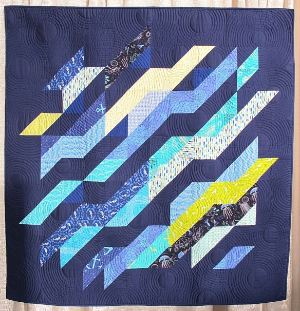 Under Currents by Patty Sloniger, quilted by Pam Biswas