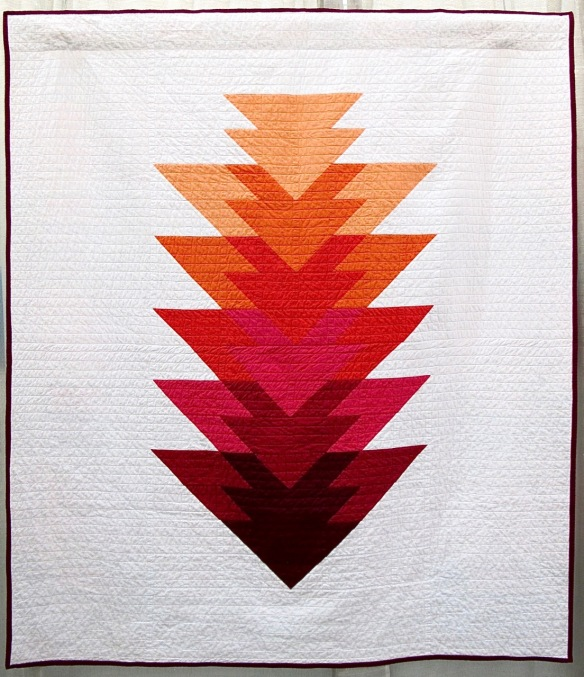 Arrowhead Quilt - Berry Colorway by Kristi Schroeder