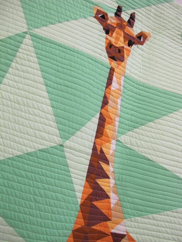 Jungle Abstractions: The Giraffe by Violet Craft, pieced by Jaime Young