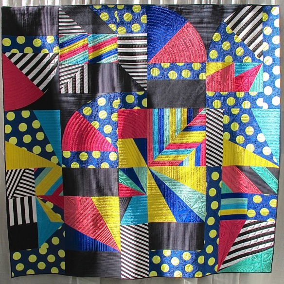 Kill it with Fire by Libs Elliott, quilted by Rachael Dorr