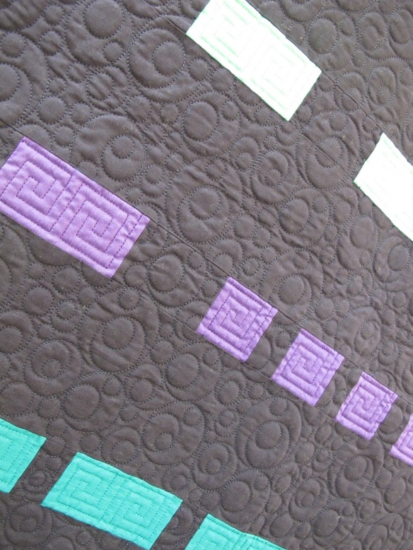 Message in the Dark by Sarah Maxwell, quilted by Sarabeth Rebe