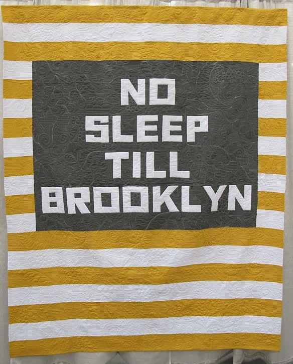 No Sleep Till Brooklyn by Allison Chambers, quilted by Jessica Toye