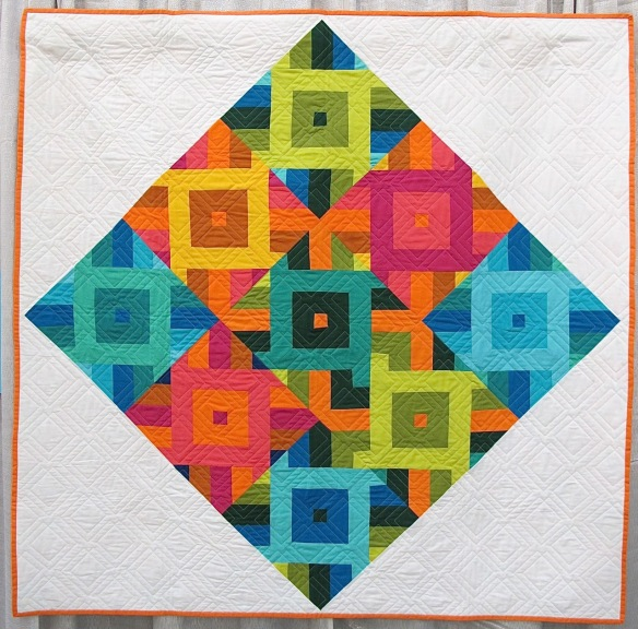Square Dance by Carol Dennis, quilted by Michelle Kitto