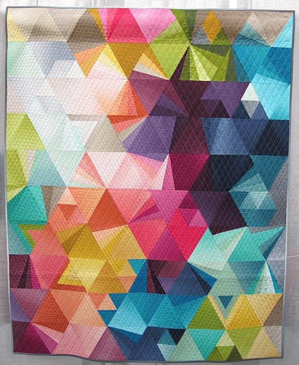 Tesselation 4 by Nydia Kehnle, quilted by Gina Pina