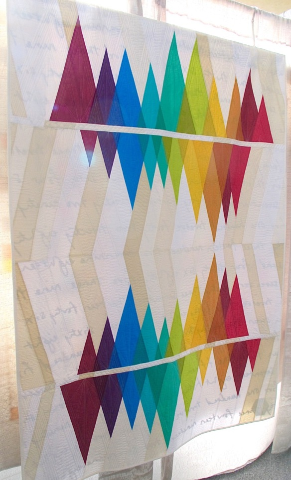 Wavelength by Rebecca Bryan, quilted by Angela Walters