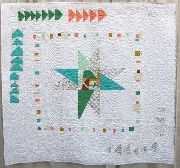 Free Geese by Shannon Storms and Linda Sinclair, quilted by Jessica Fitzhugh