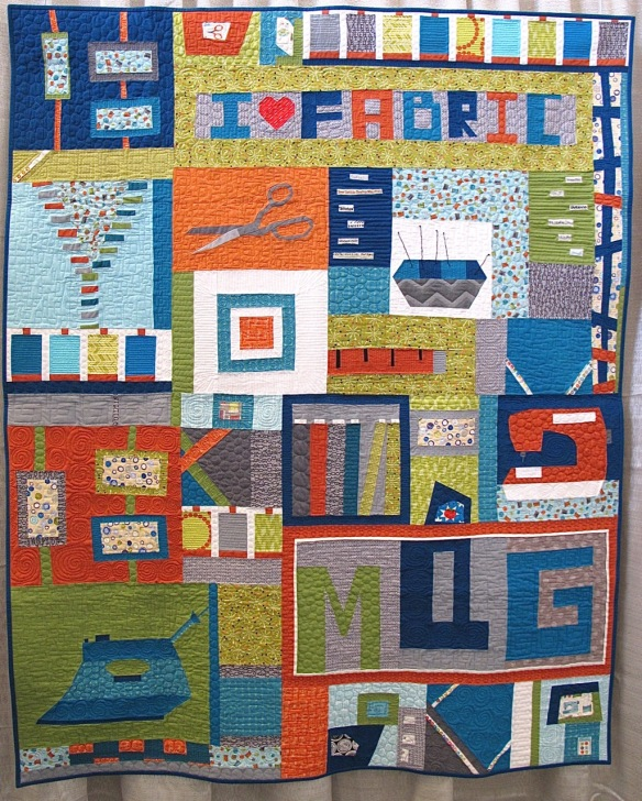 I Love Sewing by Neva Asinari and the Central New Jersey Modern Quilt Guild