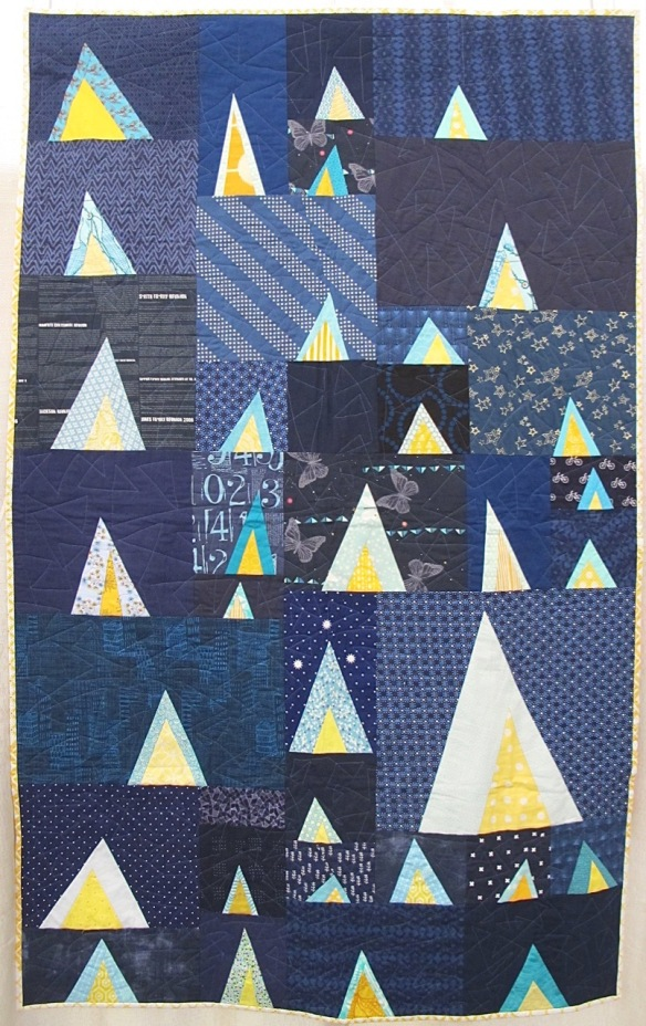 Little Tents by Daisy Aschehoug and the Baton Rouge Modern Quilt Guild