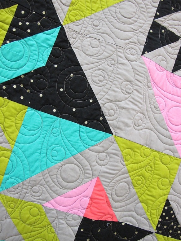 Punk Rock Glitz Quilt by Melissa Draper, quilted by Gina Boyd