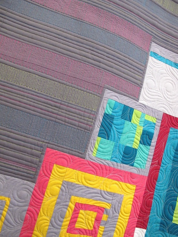 The Modern Strip Quilt by Las Vegas Modern Quilt Guild