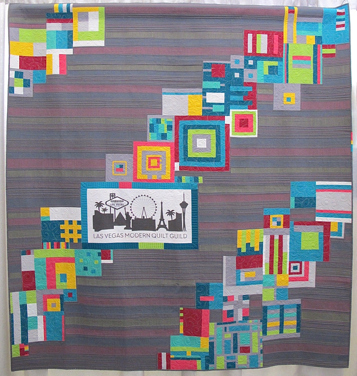The Modern Strip Quilt by Las Vegas Modern Quilt Guild | The Plaid ... : modern quilt guild - Adamdwight.com