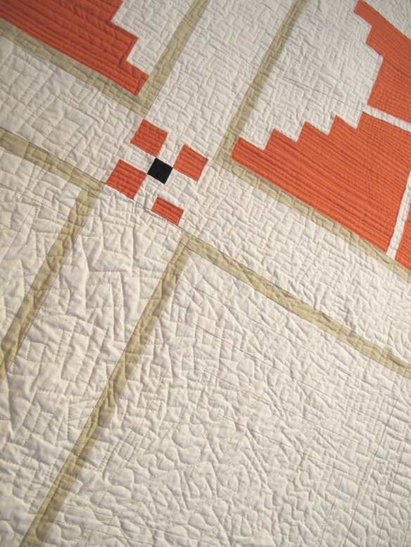 Deconstruction by Pam Rocco, quilted by Karen Foster
