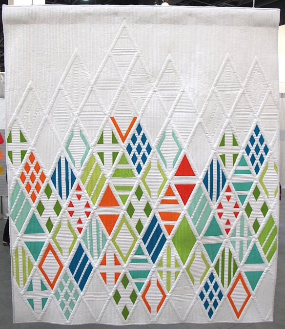 Eidos, designed by Agatha June of Austin, Texas, Pieced by Elizabeth Dackson of Tampa, Florida, quilted by Gina Pina of Austin, Texas.