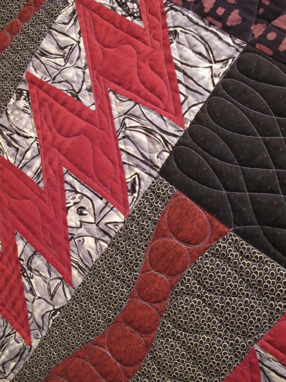 Geezer Quilt #4: Big Fish, Small Pond by Sue Mary Fox