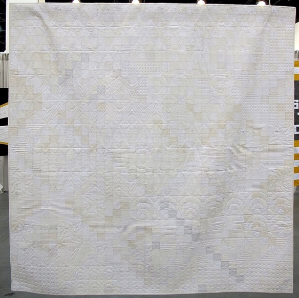 No Value Does Not equal Free by Molli Sparkles, quilted by Jane Davidson