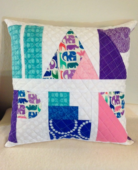 Harper Pillow by Chancy Fessler using I Spy The Alphabet by thequiltedfox.com