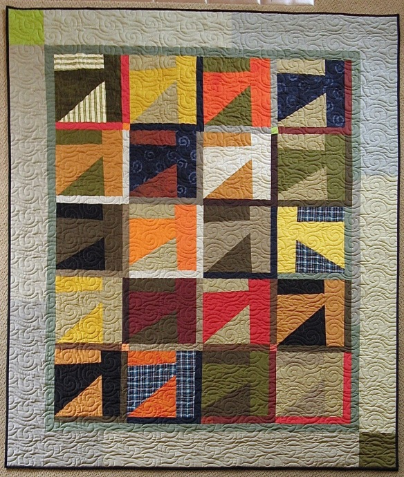 Hatchet by Pam Rocco, quilted by Linda Barbin