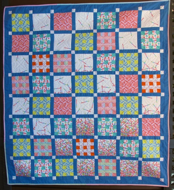 Pop Rox hashtag quilt by Pati Fried, quilted by Terri Carpenter, thequiltedfox.com