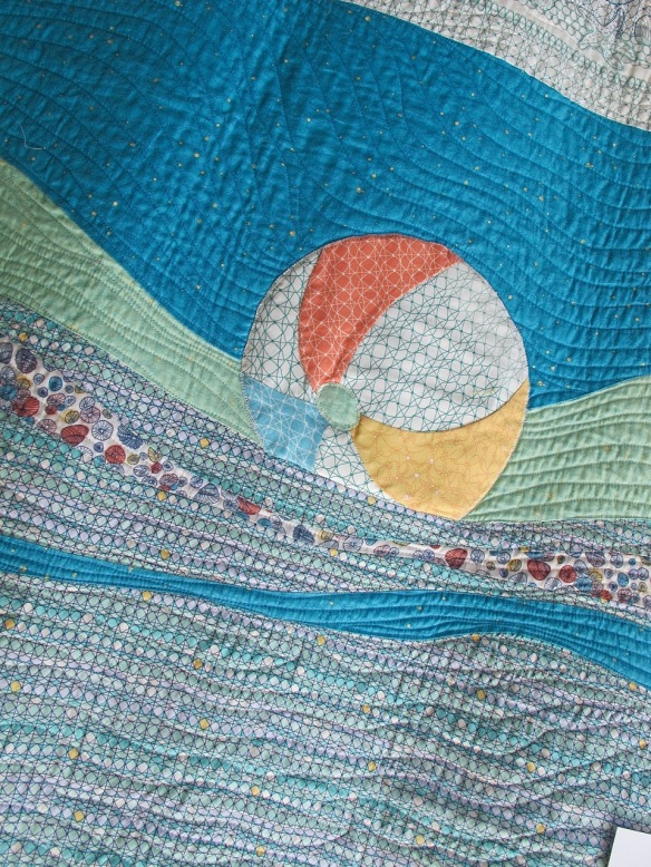 Making Waves, piecing and pattern by Pati Fried, quilting by Kerry Reed, using Tidal Lace fabrics by Kim Andersson