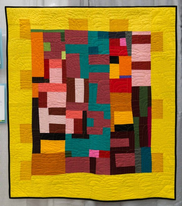 My Way by Pamela Rocco. Santa Cruz, California. Quilted by Susan Spencer, Scotts Valley, California.