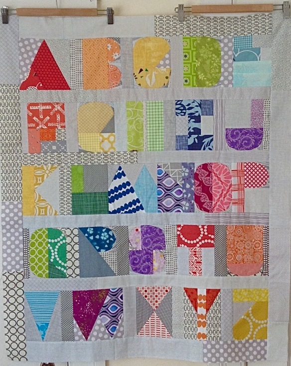 Quilt by Margaret Glendening using I Spy The Alphabet pattern by thequiltedfox.com